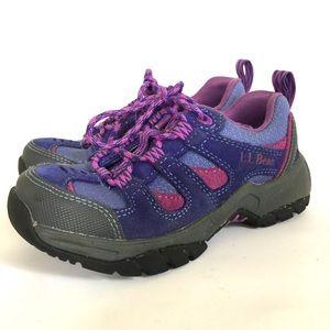 L.L. Bean Kids' Trail Low Hiking Boots Purple 13